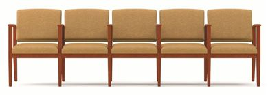 Picture of A Reception Lounge 5 Chair Modular Tandem Seating with Arms