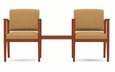 Picture of A Reception Lounge 2 Chair Tandem Seating with Connecting Table