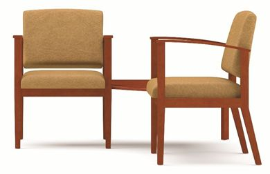 Picture of A Reception Lounge 2 Chair Tandem Seating with Corner Connecting Table