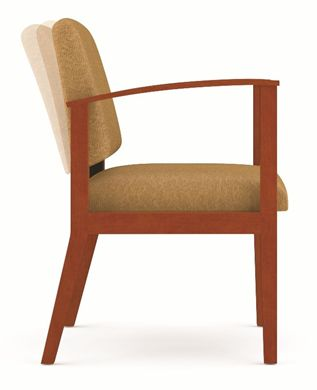Picture of A Reception Lounge Motion Wood Open Arm Guest Chair