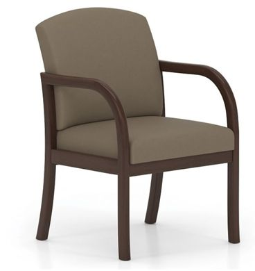 Picture of . Reception Lounge Transitional Guest Wood Arm Chair
