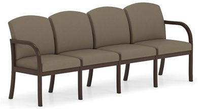 Picture of . Reception Lounge Transitional 4 Seat Modular Tandem Seating