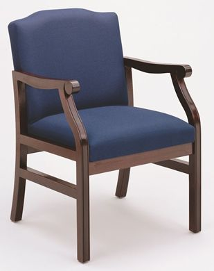 Picture of - Reception Lounge Traditional Wood Arm Guest Chair