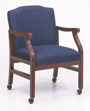 Picture of - Reception Lounge Traditional Mobile Wood Arm Guest Chair