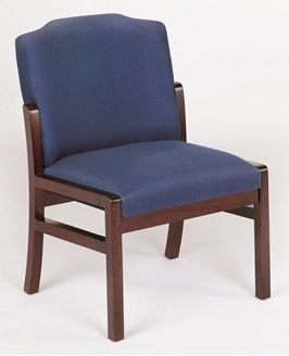 Picture of - Reception Lounge Traditional Armless Guest Chair