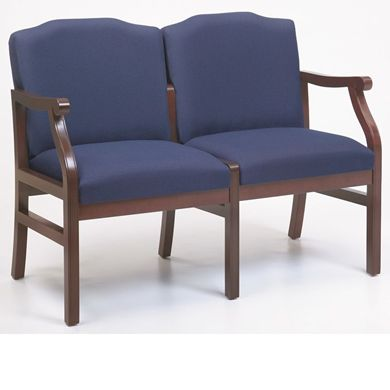 Picture of - Reception Lounge Traditional 2 Chair Modular Tandem Seating