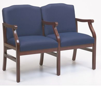 Picture of - Reception Lounge Traditional 2 Chair Modular Tandem Seating with Arms