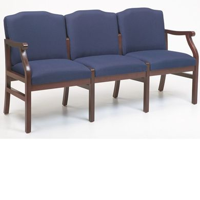 Picture of - Reception Lounge Traditional 3 Chair Modular Tandem Seating