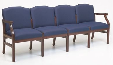 Picture of - Reception Lounge Traditional 4 Chair Modular Tandem Seating
