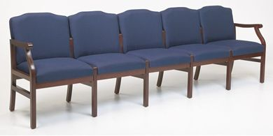 Picture of - Reception Lounge Traditional 5 Chair Modular Tandem Seating