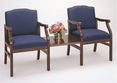 Picture of - Reception Lounge Traditional 2 Arm Chair with Connecting Table