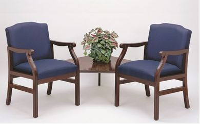 Picture of - Reception Lounge Traditional 2 Arm Chair with Corner Connecting Table