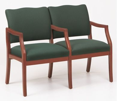 Picture of / Reception Lounge Transitional 2 Chair Modular Tandem Seating with Arms