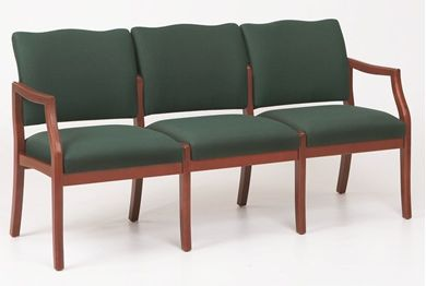 Picture of / Reception Lounge Transitional 3 Chair Modular Tandem Seating with Arms