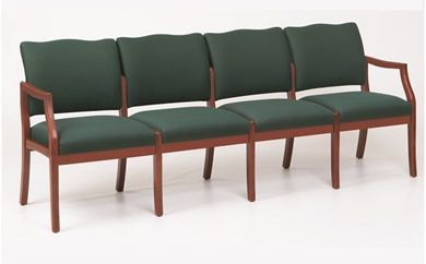 Picture of / Reception Lounge Transitional 4 Chair Modular Tandem Seating