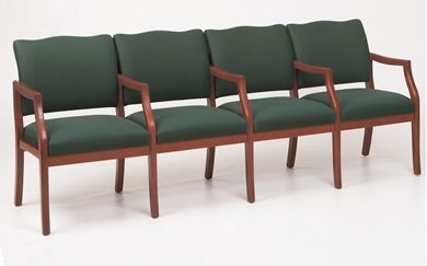 Picture of / Reception Lounge Transitional 4 Chair Modular Tandem Seating with Arms