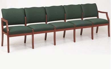 Picture of / Reception Lounge Transitional 5 Chair Modular Tandem Seating