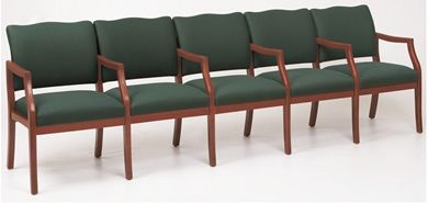 Picture of / Reception Lounge Transitional 5 Chair Modular Tandem Seating with Arms