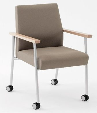 Picture of Wallsaver Reception Lounge Contemporary Steel Mobile Guest Arm Chair