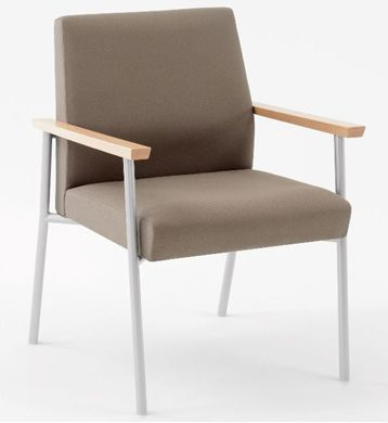 Picture of Wallsaver Reception Lounge Contemporary Steel Oversized Guest Arm Chair, 400 LBS.