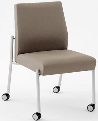 Picture of Wallsaver Reception Lounge Contemporary Steel Mobile Armless Guest Chair