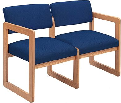 Picture of Sled Base Reception Lounge Contemporary 2 Chair Modular Tandem Seating