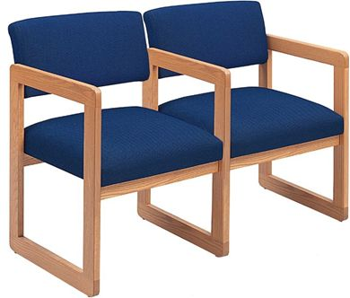Picture of Sled Base Reception Lounge Contemporary 2 Chair Modular Tandem Seating with Arms