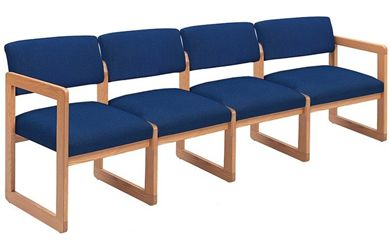 Picture of Sled Base Reception Lounge Contemporary 4 Chair Modular Tandem Seating