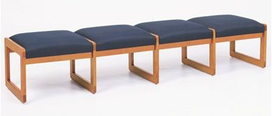 Picture of Bench Seating Backless 4 Seat Lounge Sled Base