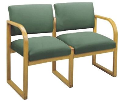 Picture of * Sled Base Reception Lounge 2 Chair Modular Tandem Seating