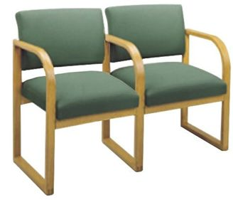 Picture of * Sled Base Reception Lounge 2 Chair Modular Tandem Seating with Arms