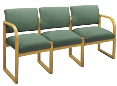 Picture of * Sled Base Reception Lounge 3 Chair Modular Tandem Seating