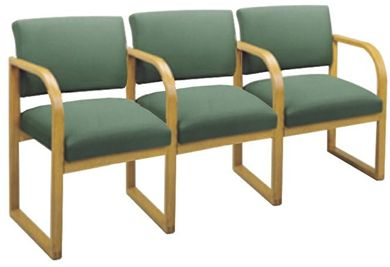 Picture of * Sled Base Reception Lounge 3 Chair Modular Tandem Seating with Arms