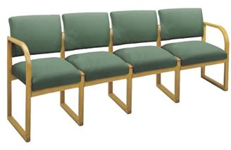 Picture of * Sled Base Reception Lounge 4 Chair Modular Tandem Seating