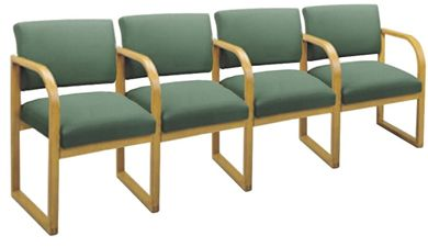 Picture of * Sled Base Reception Lounge 4 Chair Modular Tandem Seating with Arms