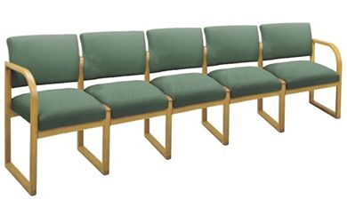 Picture of * Sled Base Reception Lounge 5 Chair Modular Tandem Seating