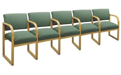 Picture of * Sled Base Reception Lounge 5 Chair Modular Tandem Seating with Arms