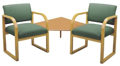 Picture of * Sled Base Reception Lounge 2 Arm Chair with Corner Connecting Table