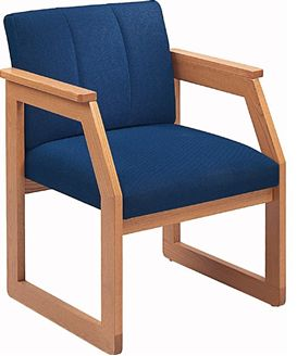 Picture of Contemporary Guest Side Visitor Reception Wood Arm Chair