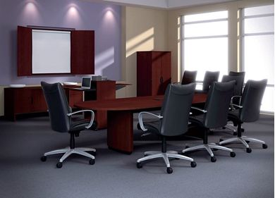 "Picture of 84"" Oval Shape Laminate Conference Table"