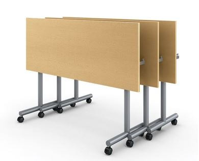 "Picture of 24"" x 60"" Nesting Mobile Training Table with T Base"