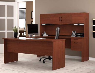 Picture of Contemporary U Shaped Workstation With Draws