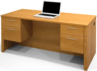 Picture of  Home Office Desk Station with  Dual Pedestal And Draws