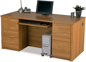Picture of  Executive Desk Set with Keyboard Shelf and Filing Drawers