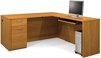 Picture of  L-Shaped Workstation with Keyboard Shelf and Filing Drawer