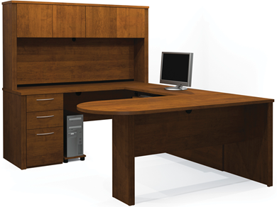 Picture of  U-Shaped Assembly with Hutch and Conference Table