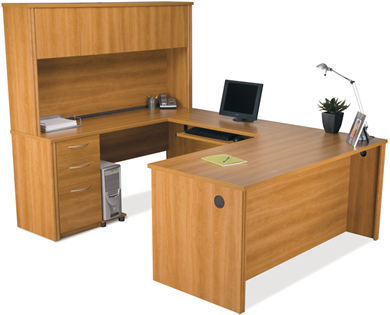 Picture of  U-Shaped Workstation with Hutch and Executive Desk