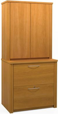 """Picture of 30""""W Cabinet Lateral File With 2 Locking Drawers And Shelves."""