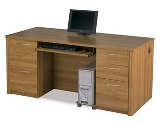 Picture of  Home Office Desk With Pedestals And Drawers