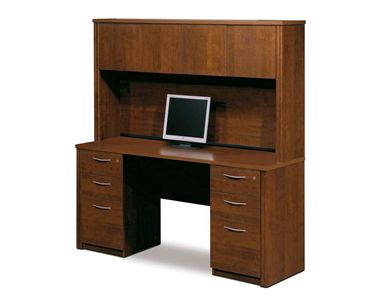 Picture of  Credenza and Hutch Kit with Pedestals